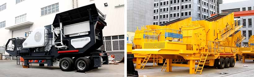 Simple stone crushing plant