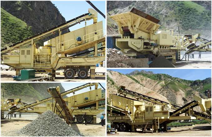 Mobile Cone Crusher Production Site